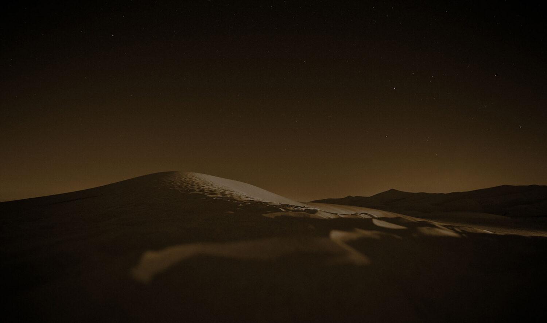Picture of barren desert sepia